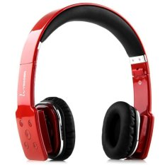 VEGGIEG V8100 Stretch Wireless Bluetooth V4.0 + EDR Hands Free Headset MP3 Music Headphone With 3.5mm Jack And Micro USB Interface For IPhone Samsung Smartphones Laptop Etc. (RED) (Intl)