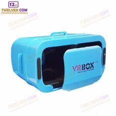VR BOX GENERESI KE 3 - 3D Virtual Reality for Smartphone - Ukuran Lebih Kecil - Biru