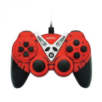 VZTEC USB Dual Shock Controller Game Pad Joystick - VZ6006 - Red
