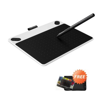 Wacom Intuos Draw CTL490 Pen Tablet - White + Gratis Softcase dan Proskin Antigores