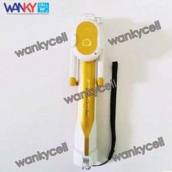 Wanky Tongsis Monopod 3 in 1 Selfie Stick With Bluetooth Remote Shutter - Gold