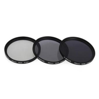 Waterproof 58mm ND Filter Kit ND2 ND4 ND8 For Canon