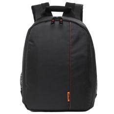 Waterproof Multi-functional Digital DSLR Camera Video Bag Small SLRCamera Bag For Photographer (Black / Orange)