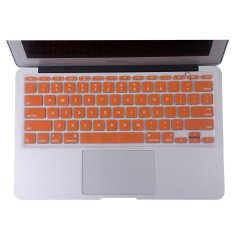 Welink Fashion Silicone US Keyboard Cover Waterproof Keyboard Protector Skin For Apple Macbook Air 11 Inch (Orange) (Intl)