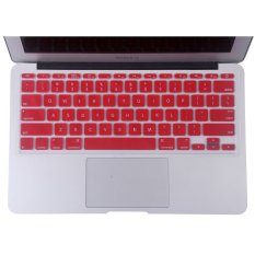 Welink Fashion Silicone US Keyboard Cover Waterproof Keyboard Protector Skin For Apple Macbook Air 11 Inch (Red) (Intl)