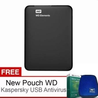 "Western Digital Elements 2.5"" - 750GB - Hitam + Gratis New Pouch dan USB Antivirus Kaspersky"