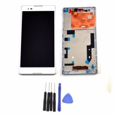 White LCD Display For Sony Xperia T2 Ultra D5303 D5306 XM50h Touch Screen Digitizer Assembly + Bezel Frame + Tools - Intl