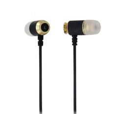 Wired Noise Isolation In Ear Headphones (Black)
