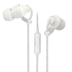 Wired Noise Isolation In Ear Headphones (White)