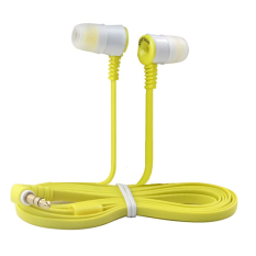 Wired Noise Isolation In Ear Headphones (Yellow)