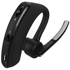 Wireless Bluetooth 4.0 Headphones Headset Handsfree Earphones Business Headset For IPhone Earphones With Microphone(Black) - Intl