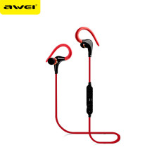 Wireless Bluetooth Headphones Sports Running Earphone Handsfree Stereo Music Headset Earpods With Microphone Awei A890BL Red