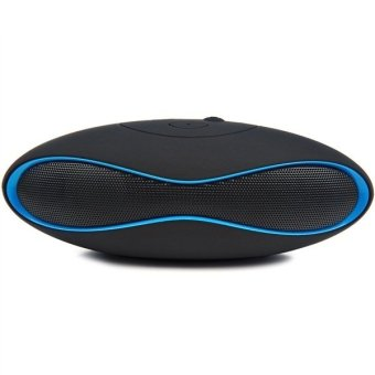 Wireless Bluetooth Speaker With Mic (Black / Blue)