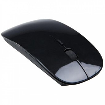 Wireless Ultra-thin Laser Optical Magic Mouse 2.4GHz - Black