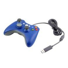 XBOX Stik Xbox 360 Kabel / USB Wired Joypad Gamepad Controller For Microsoft Xbox And Slim 360 PC Windows 7 Blue