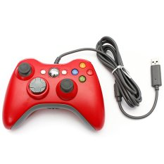 XBOX Stik Xbox 360 Kabel / USB Wired Joypad Gamepad Controller For Microsoft Xbox And Slim 360 PC Windows 7 Red