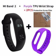 Xiaomi Mi Band 2 Smart Bluetooth Wristband+Replacement Strip(Bundle) - intl