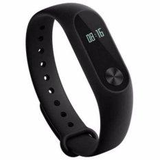 Xiaomi Mi Band 2 Waterproof Smart Bracelet Heart Rate Monitor Detak Jantung Wristband with OLED Display Original 70mAh Gelang Jam Tangan Support Android 4.4 iOS7.0 Touch Screen Li-Polymer Battery Screen Bluetooth 4.0 BLE Tahan Air Benturan - Black