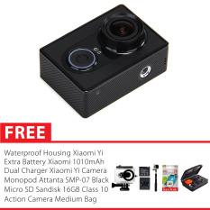 Xiaomi Yi Action Cam 16MP International Version - Hitam + Housing + Sandisk Ultra 32 GB + Tongsis + HERO Bag + Baterai