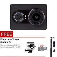 Xiaomi Yi Action Camera - 16 MP - Hitam + Waterproof Case + Basic Package