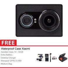 Xiaomi Yi Combo Action Camera Original - 16 MP - Hitam + Gratis Paket Accessories