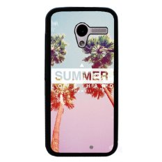 Y&M California Summer Pattern Cover Case For Motorola Moto X Phone Case Black