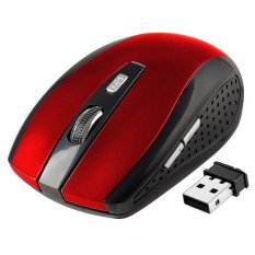 YBC 2.4GHz Wireless Optical Mouse With USB 2.0 Receiver for PC Laptop Red