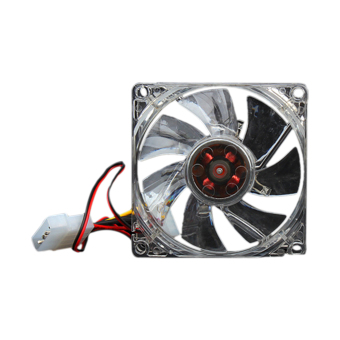 YBC 80mm 4 LEDs Quiet Case Cooling Fan For Desktop PC