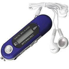 YBC 8GB MP3 Music Media Player Portable Backlit LCD Screen FM Radio Blue