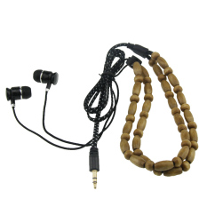 YBC Headset Beads Chain Handmade Headset Wire Headphones Earphone For Phone