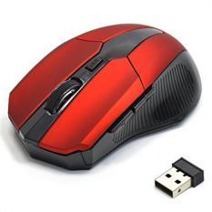 YBC USB Wireless Optik mouse 5 tombol komputer laptop untuk Gaming Mouse (Merah)