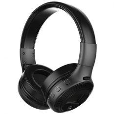 Zealot B19 Digital Display Stereo TF Card FM Radio AUX Wireless Bluetooth Headset Headphone With Mic (Black) - Intl