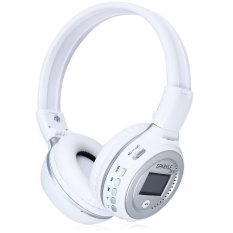 Zealot B570 LED Display Screen Wireless Stereo Bluetooth V4.0 Headphones With FM Radio TF Card Slot (WHITE) (INTL)