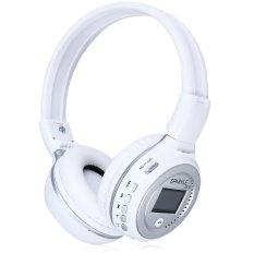 Zealot B570 LED Display Screen Wireless Stereo Bluetooth V4.0 Headphones With FM Radio TF Card Slot (WHITE) (INTL)