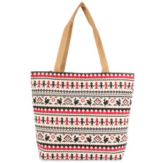 2015 Brand New Women Canvas Bags Tote Large Capacity Shoulder Bag Women Handbag Retro Zipper Casual Beach Bag Bolsas Femininas Beige - INTL