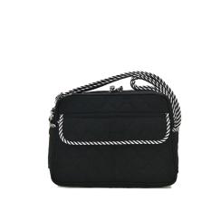 2016 Canvas Crossbody Bags Women Messenger Bags Floral Printing Small Shoulder Bag Ladies Summer Beach Bags Waterproof Handbags (Black) - INTL