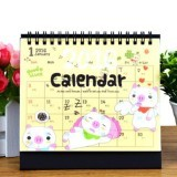 2016 Cartoon Animal Table Agenda Memo Office Desk Calendar (Pig) - Intl