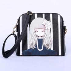 2016 Fashion New Trend Cartoon Crossbody Bag Tote Handbag (Black)