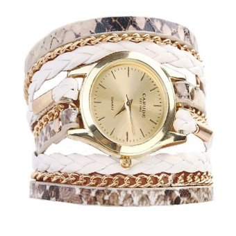2016 High Quality Fashional Bracelet Wristwatch (White)