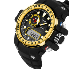 2016 High Quality SANDA 399 Fashion Outdoor Sports Dual Display Waterproof Electronic Watch (Gold)