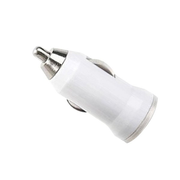 2016 High Quality USB Car Charger Adapter Bullet (White ) (Intl)