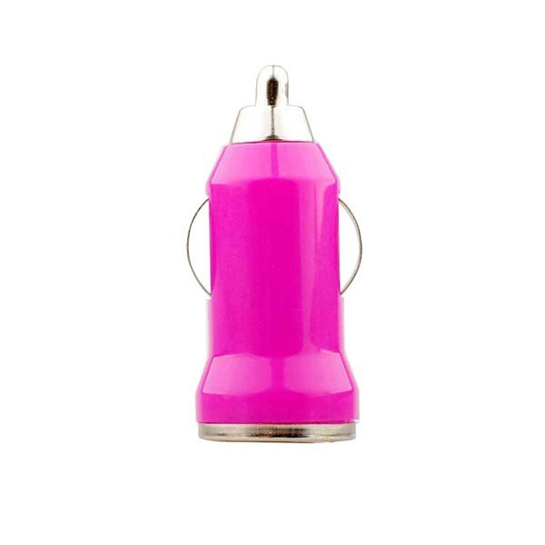 2016 Hot Sale USB Car Phone Charger Bullet Charger (Rose Red ) (Intl)