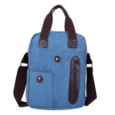 2016 Men Travel Sport Canvas Fashion Cool Messenger Bag (Blue)