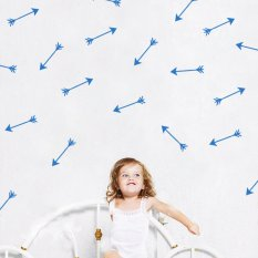 2016 New Cute Arrows Wall Sticker DIY Home Decor Bedroom Decoration PVC Wall Decal -Blue (Intl)