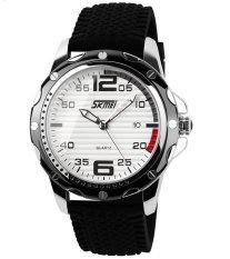 2016 New Fashion Skmei0992 Fashion Genuine Classic Men's Casual Military Sports Quartz Watches Luxury Brand Analog Cool Steel PU Wristwatches Waterproof Watch (Intl) (Intl)