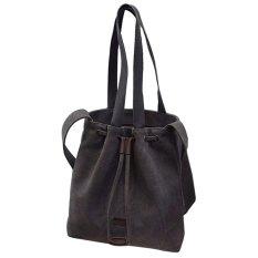 2016 New Spring Tide Inclined Shoulder Bag Handbag Canvas Bag Lady Simple Shopping Bag (Gray) - INTL