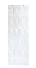 24 Pocket Over The Door Hanging Tidy Organiser Storage Rack / Over Door Storage Unit Shoe Organizer Pockets Door Tidy Space Saving White