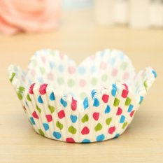 25pcs Cake Liner Muffin Dessert Baking High Temperature Greaseproof Petal Baking Cups #04 - Intl