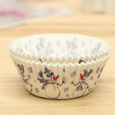 25pcs Xmas Colorful Paper Cake Cupcake Liner Case Wrapper Muffin Baking Cup #04