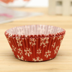 25pcs Xmas Colorful Paper Cake Cupcake Liner Case Wrapper Muffin Baking Cup #21